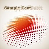 3D halftone circle background with copy space poster