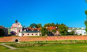 Fortifications around the old town of Zamosc in Poland poster