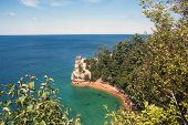 Miners' Castle at Pictured Rocks National Lakeshore on Lake Superior near Munising, Michigan, USA poster