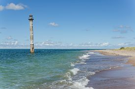 Kiipsaare leaning lighthouse, island of Saaremaa, Estonia.