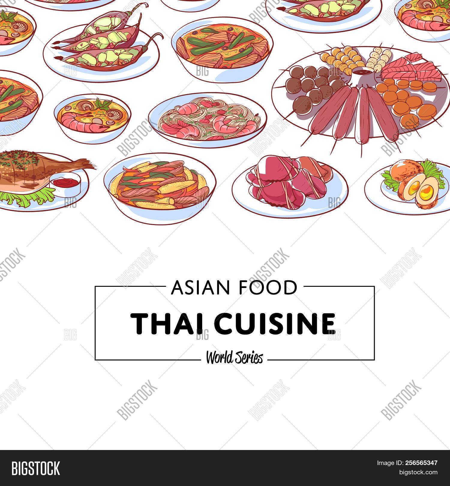 Thai Cuisine Poster Image Photo Free Trial Bigstock