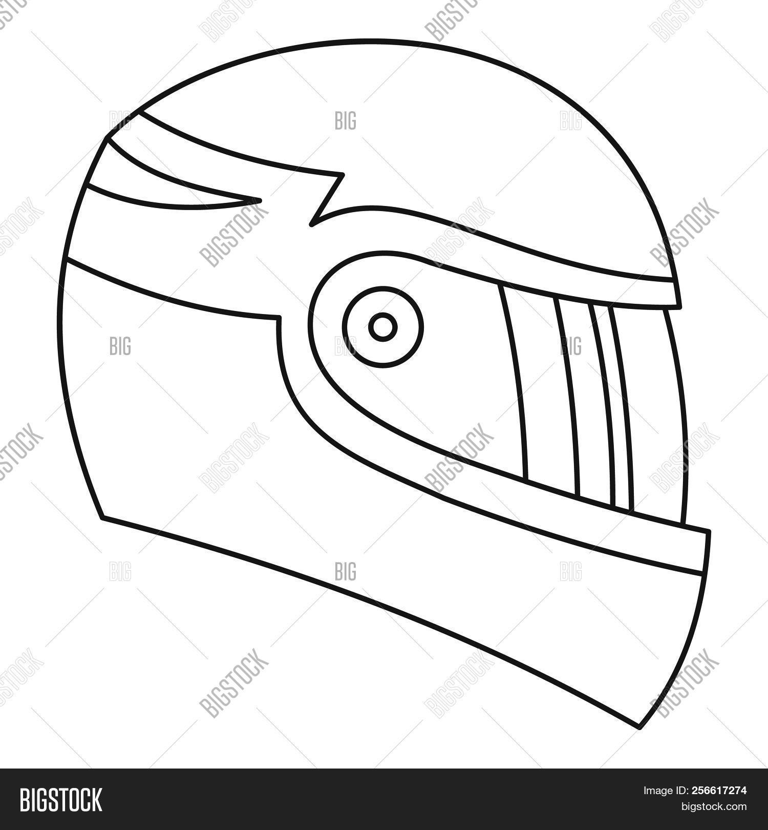 motorcycle helmet icon  outline illustration of motorcycle helmet icon for  web