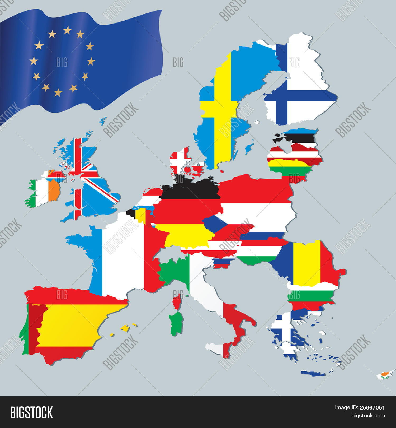 European Union Map Image & Photo (Free Trial) | Bigstock