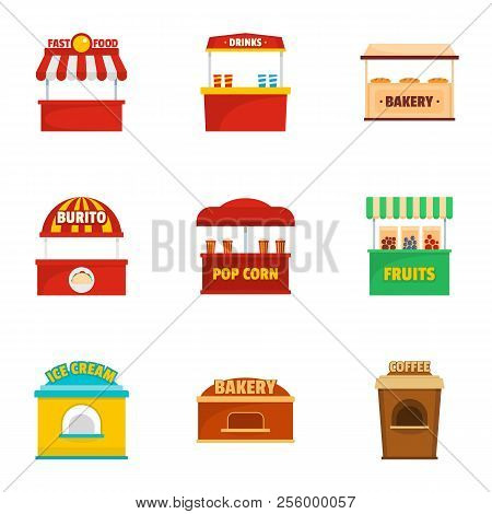 Holiday Shop Icons Set. Cartoon Set Of 9 Holiday Shop Icons For Web Isolated On White Background