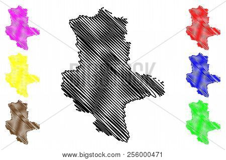 Saxony-anhalt (federal Republic Of Germany, State Of Germany, Land Sachsen-anhalt) Map Vector Illust