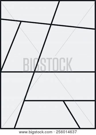 Montage Collage Photo Frame Template. Image Picture Background Montage Poster Design.