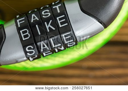 Letter Combination Bike Lock With Code - Fast Bike Sale - To Unlock The Plastic Covered Steel Cable