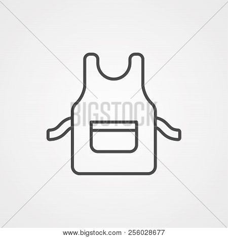 Apron Outline Icon. Linear Style Sign For Mobile Concept And Web Design. Pinafore Simple Line Vector