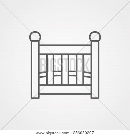 Baby Line Icon, Outline Vector Sign, Linear Style Pictogram Isolated On White.