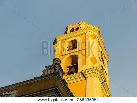 Trinidad, Cuba. January 2018. A View Of The Tower Of The Convento De San Francisco De Asi, In Trinid