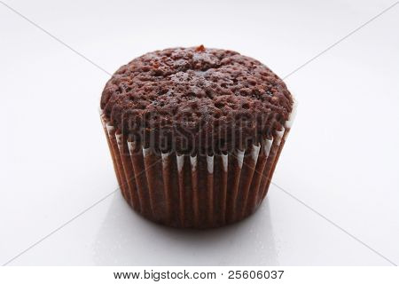 one chocolate muffin