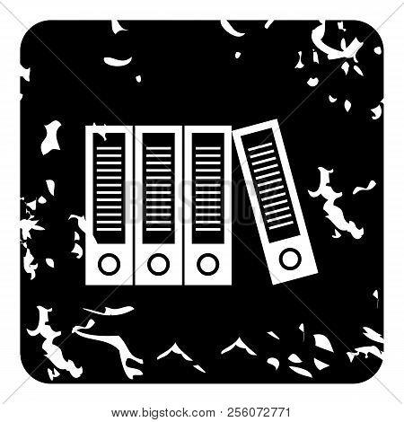 Folder Icon. Grunge Illustration Of Folder Icon For Web