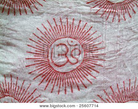 OM design on a scarf cloth
