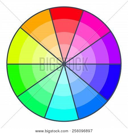 Color Wheel With Shades Icon. Cartoon Illustration Of Color Wheel With Shades Icon For Web Design