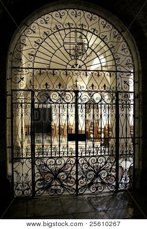 nativity church iron gate, bethlehem, west bank, palestine, israel