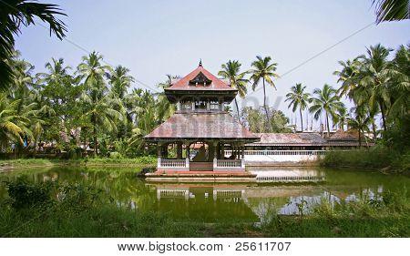temple complex in kochi, kerala, india