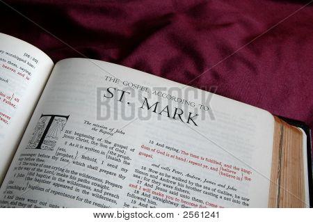 Books of the bible - Gospel of St. Mark poster