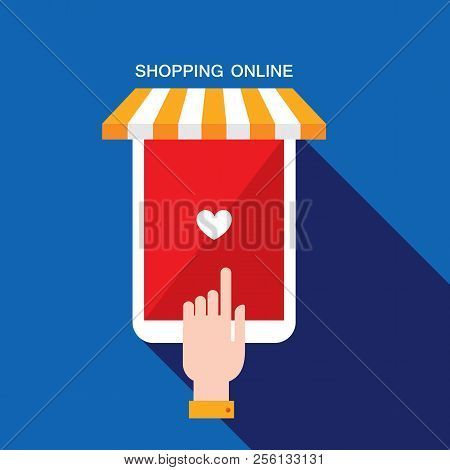 E Commerce Business Concept. Online Store, Shopping, Sale, Buy Products Vector Illustration