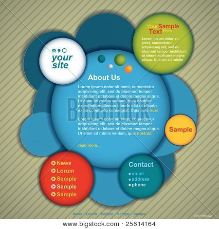 website design vector template
