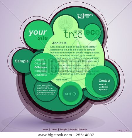Abstract green design,web site