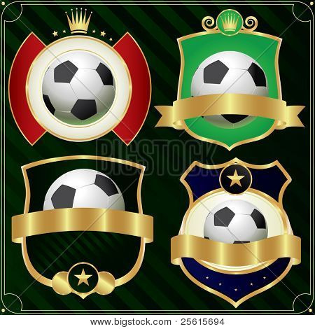 Football labels set.