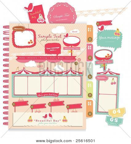 Cute scrapbook elements (9)