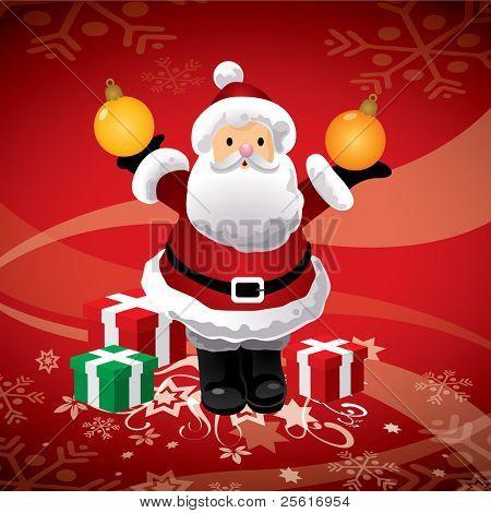 Santa holding crystal ball