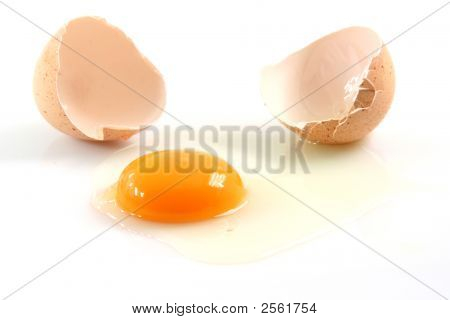 Egg Broken Isolated