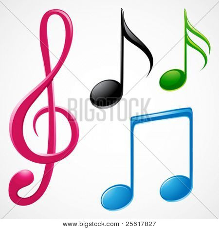 colorful music note