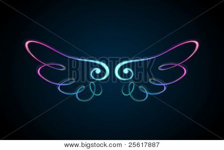 colorful shining wings ornament