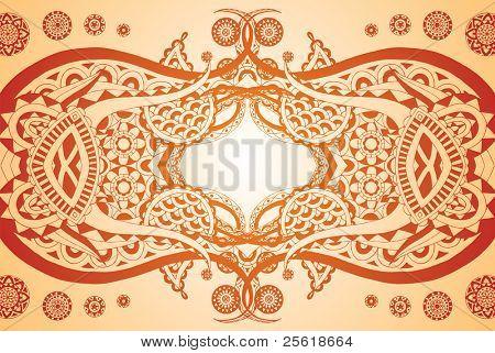 Henna style reflection doodle
