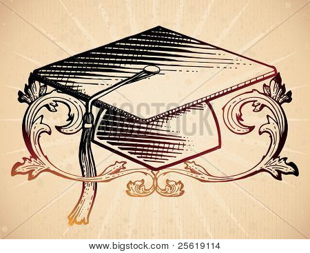 18th century style mortarboard.