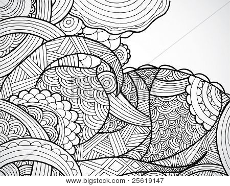 Abstract hand drawn background.
