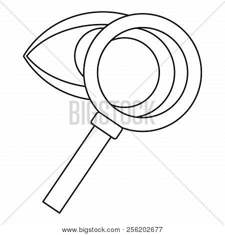 Magnifying Glass And Eye Icon. Outline Illustration Of Magnifying Glass And Eye Icon For Web
