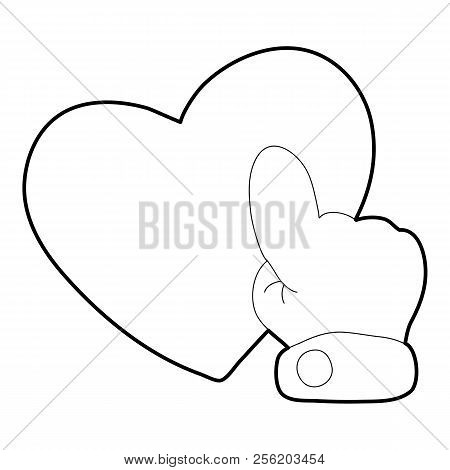 Heart Touch Icon. Outline Illustration Of Heart Touch Icon For Web