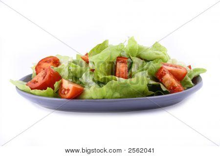 A Healthy Combination Of Lettuce Tomato