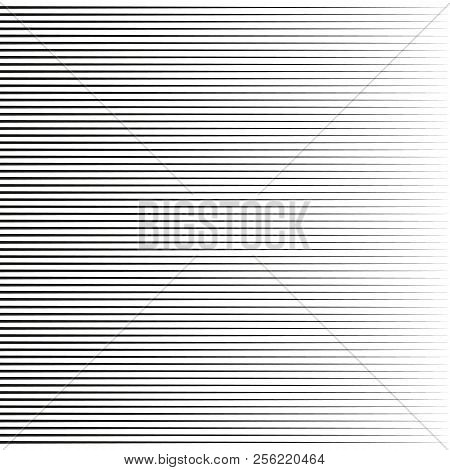 Horizontal Speed Lines For Comic Books.straight, Parallel Lines Abstract Geometric Texture, Monochro