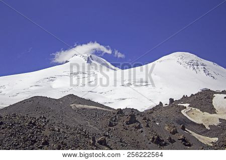 Two Peaks Of Elbrus - Highest Mount In Europe