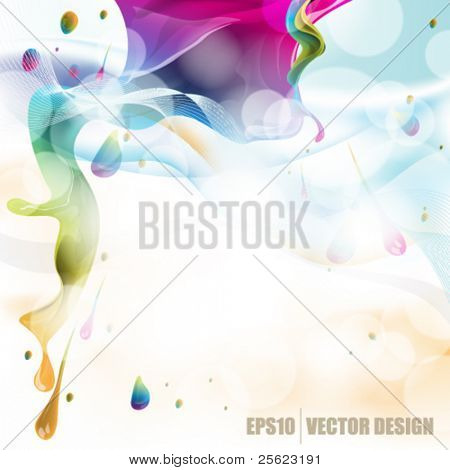 eps10 vector abstract design with ink splatter