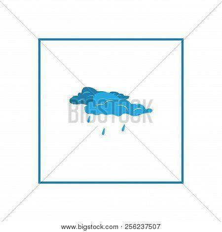 Wear Rain Sign. Weather Icon In Square. Meteorology Symbol Minor Precipitation. Isolated Icon Small