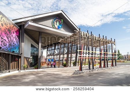 Miri, Sarawak, September 1St, 2018: Miri Handicraft Center Promotes Sarawak Indigenous Ethnic Arts A