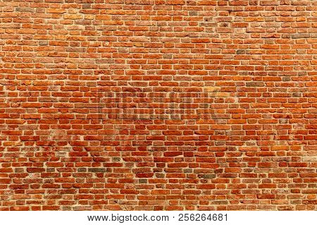 Red Brick Wall. Texture Of Red Brick Wall. Background Of Red Brick Wall. Brick Wall Texture For Rend