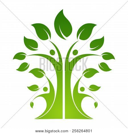 Friendship Bonding Together Organic People Logo People Logo Tree Logo Vector Logo Template