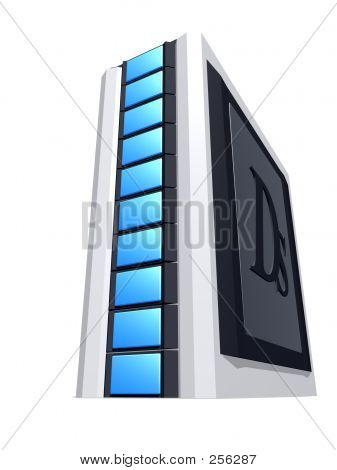 Grey Computer Tower