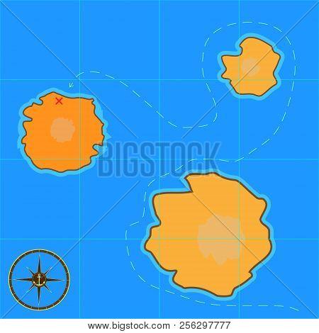 Cartoon Treasure Map Vector & Photo (Free Trial) | Bigstock on