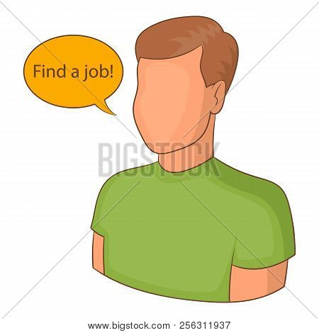 Find A Job Icon. Cartoon Illustration Of Find A Job Icon For Web