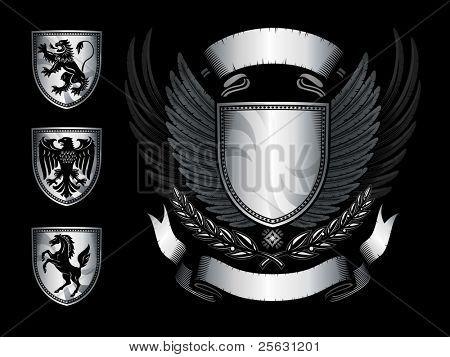 geflügelte Schild emblem