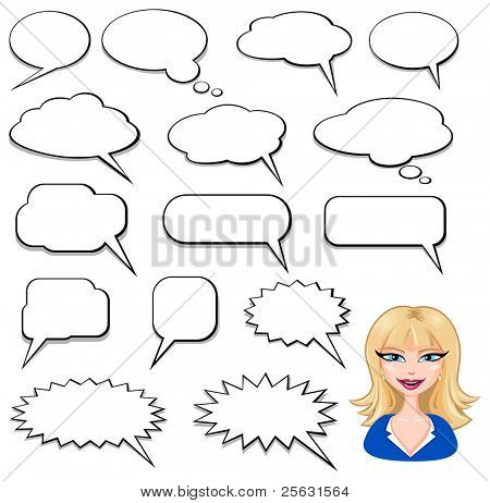 Speech Bubbles and girl avatar