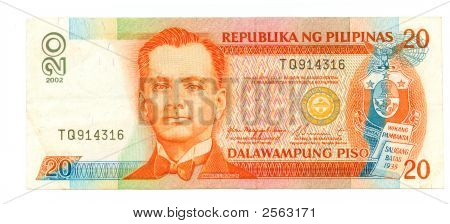 20 Piso Bill Of Philippines, 2002