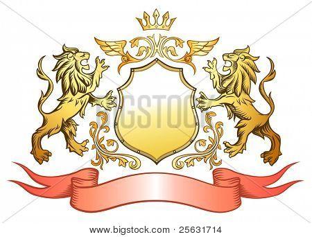 Golden Lion Shield Insignia